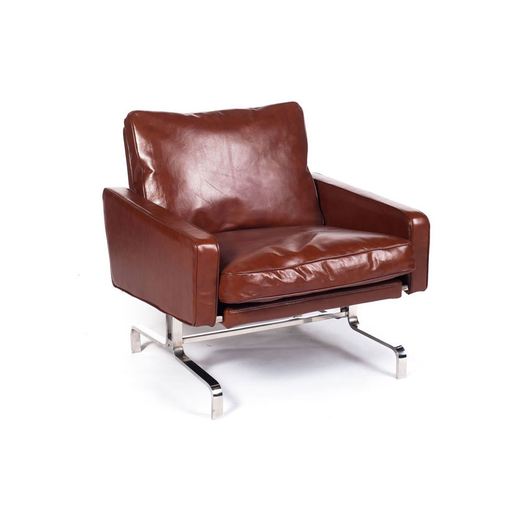 Pink brown nielson chair cognac 1 modern furniture canada