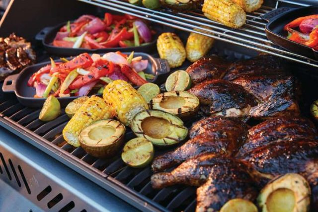 cook healthy meals on your backyard barbecue