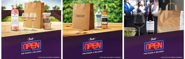 wines and spirits for takeout
