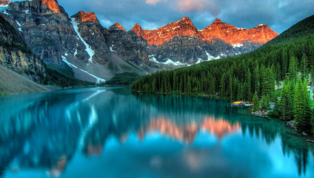 Alberta Canada Lake Mountains Banff