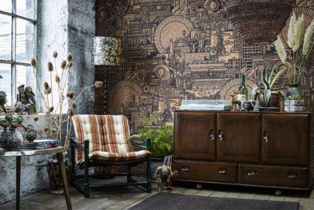 wallpaper made from cork